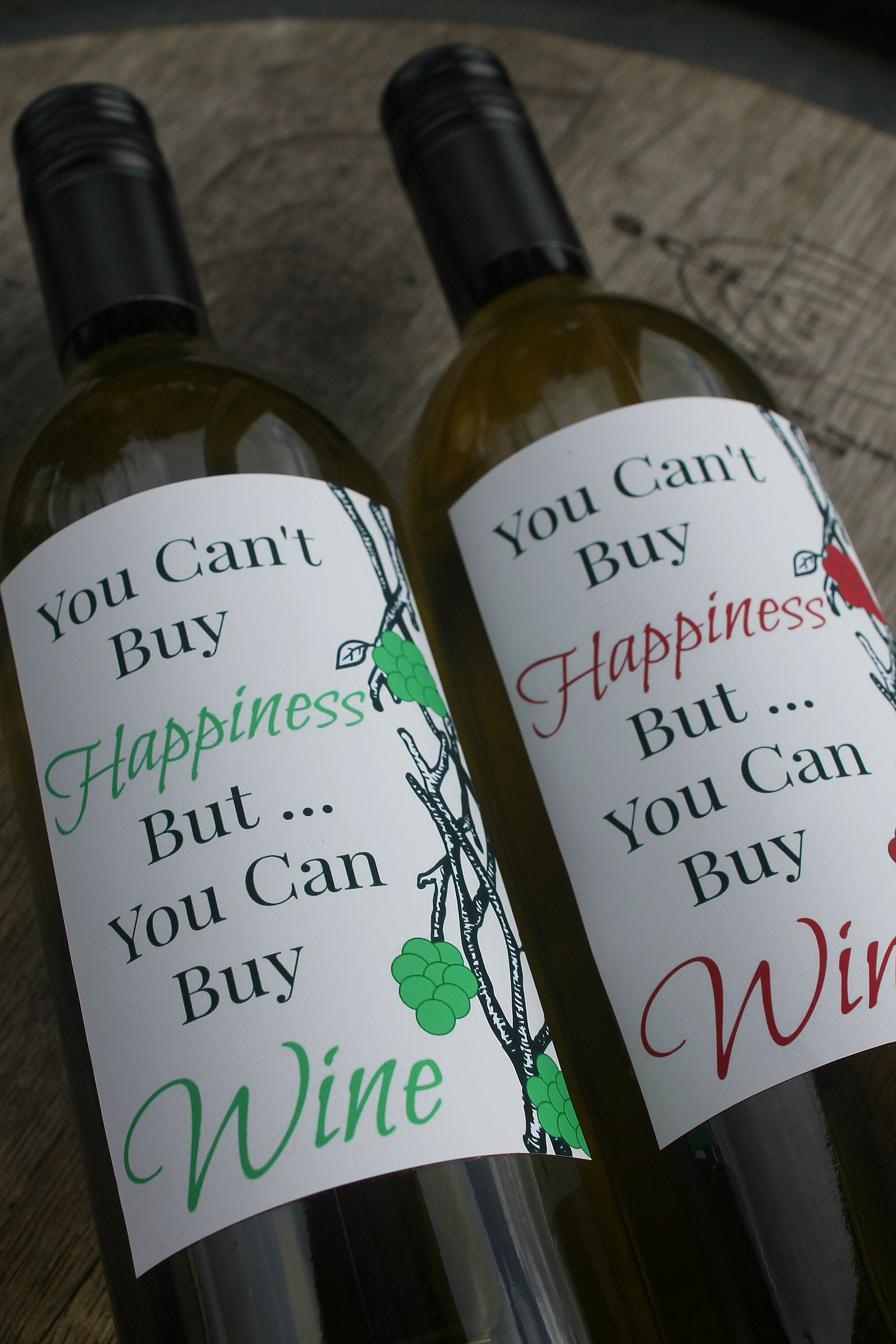 Wine Label Printable – Happiness Is