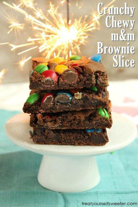 MM-Brownie-Slice