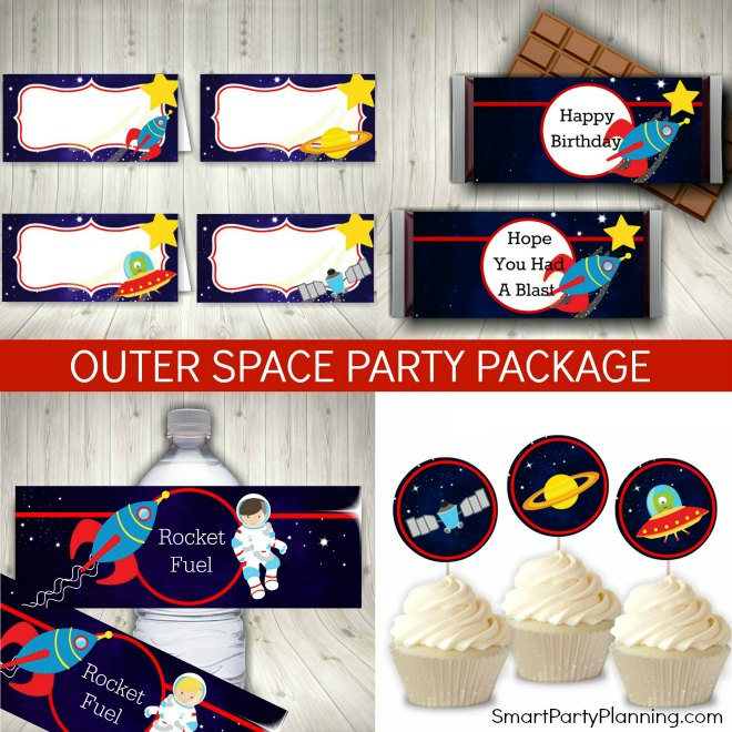 Outer Space Party Printables Package
