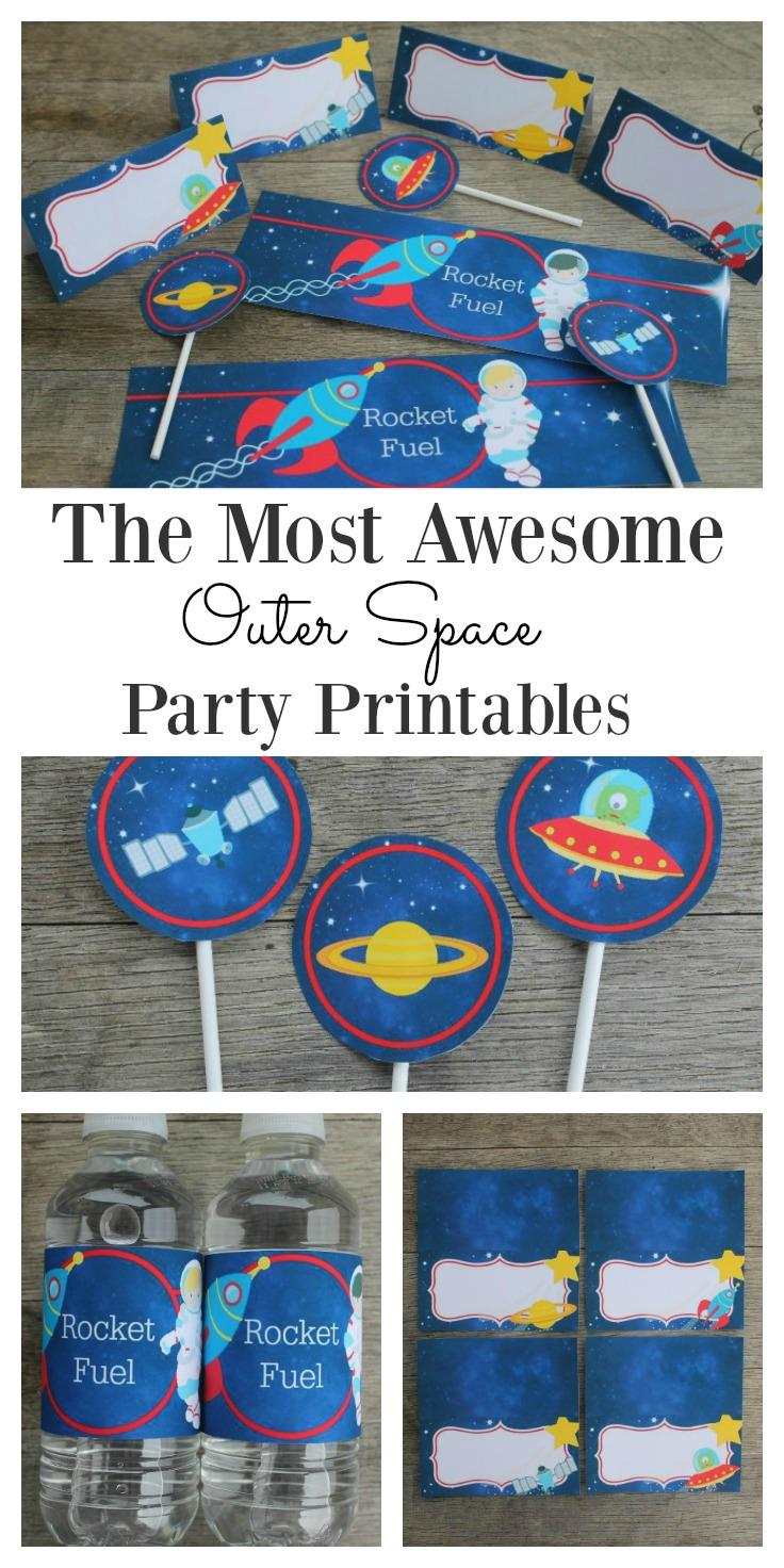 Space printables set