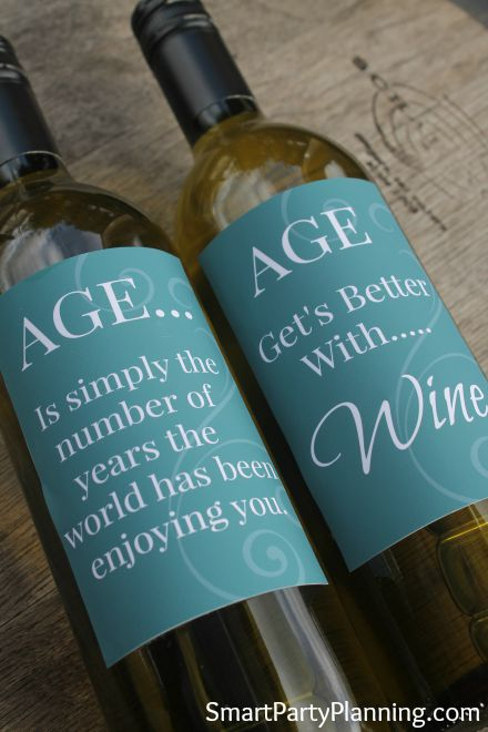 Fun Wine Labels For The Aged!
