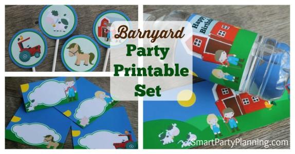 Printable Barnyard Set