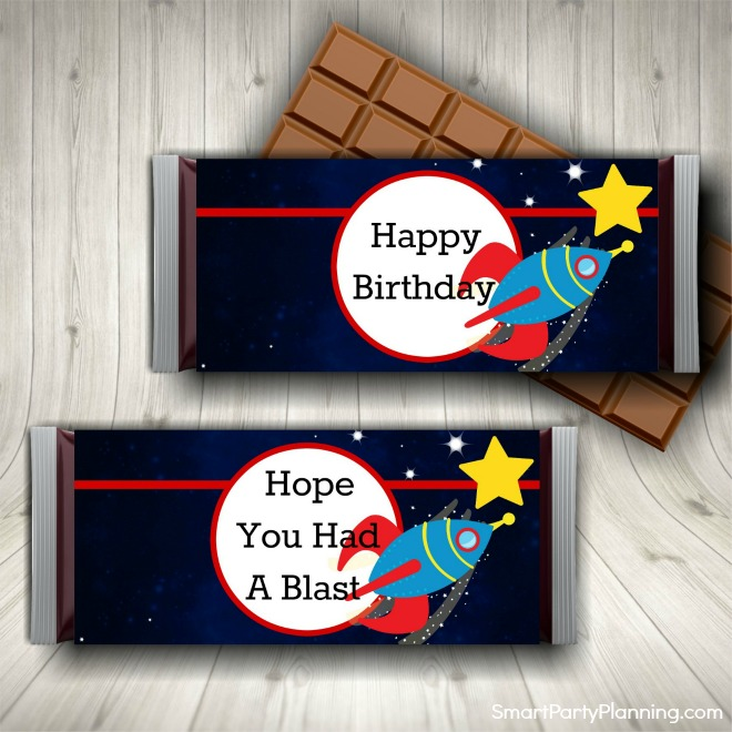 Space Candy Bar Wrappers