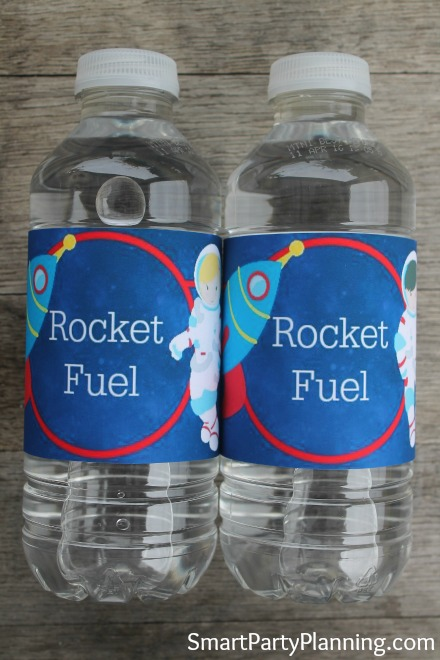 Space Water Bottle Printable Label