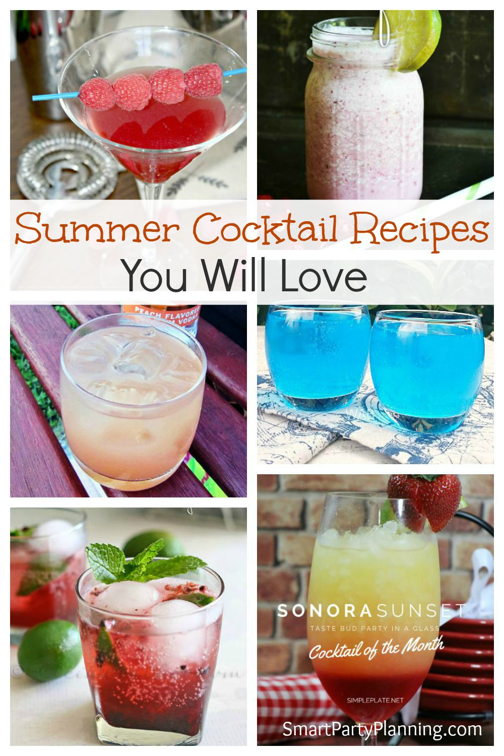6 summer cockail recipes you will love for Easy cocktail recipes for parties