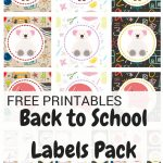 Free printable back to school labels pack