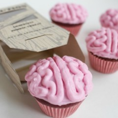 All natural Zombie Brains Cupcakes
