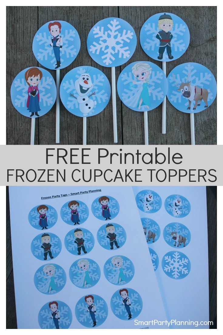 Free Printable Frozen Cupcake Toppers