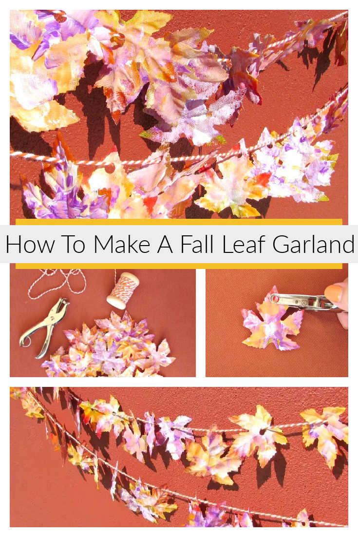 How To Make A Fall Leaf Garland
