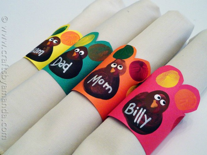 Thanksgiving crafts for kids easily made for Napkin rings for thanksgiving