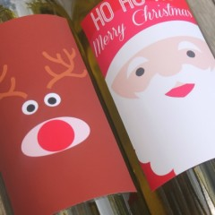Printable Christmas wine labels will add the final festive touch to your Christmas dinner. Also great to add for gifts or for Christmas party styling.