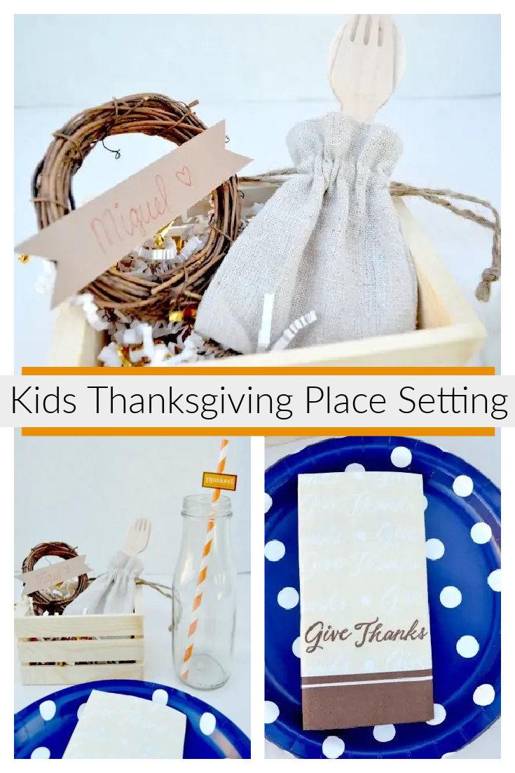 Kids Thanksgiving Place Setting