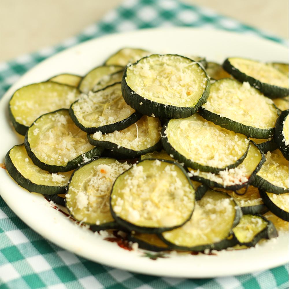 Plate of Parmesan Zucchini Bites