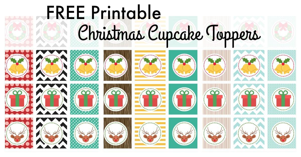 Christmas Cupcake Toppers - Free Printables