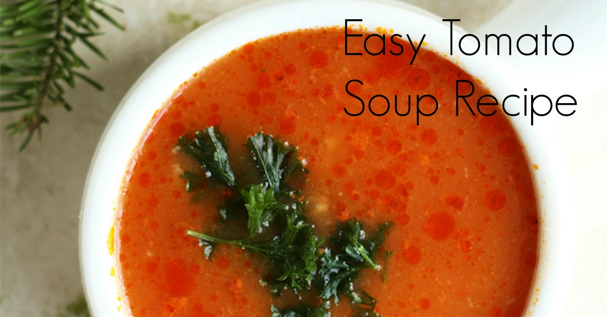 This easy tomato soup recipe is made with few ingredients. In less than 30 minutes you can have comforting tomato soup. It's perfect for winter months.