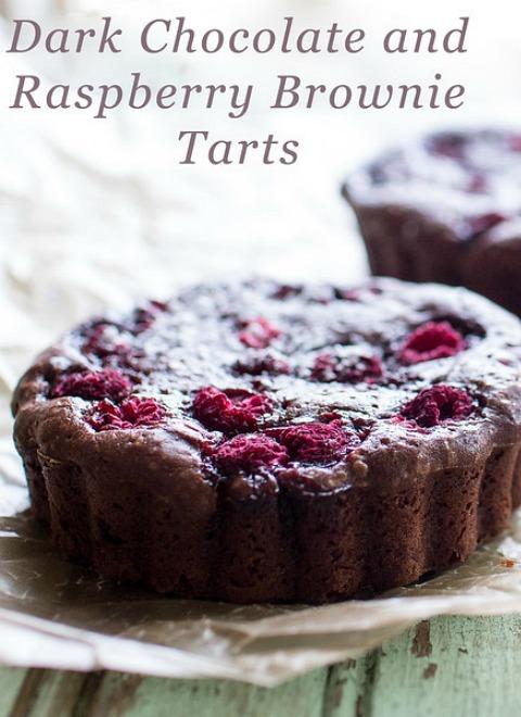 Dark Chocolate and raspberry tarts