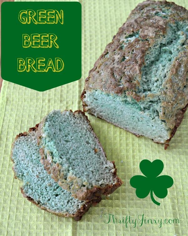 Green beer bread