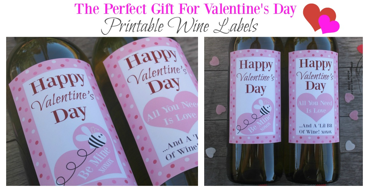 The perfect gift for valentines day free wine labels for Best gift for valentine day for girlfriend