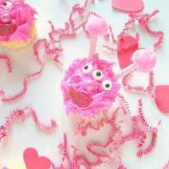 Love Monster Cupcakes are the cute and cuddly kind perfect for Valentine's Day. Kids love them, and they taste delicious. Also great for monster parties.