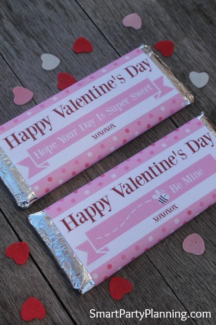 Printable Valentine's Day Wrappers for Hershey Bars