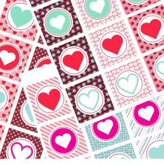 Heart cupcake toppers are perfect for Valentine's day or any romantic affair. Easy to download and use for free at your next celebration.