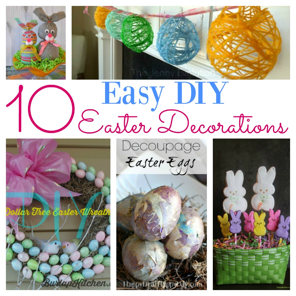 10 easy diy easter decorations you must do this year for Diy easter room decor
