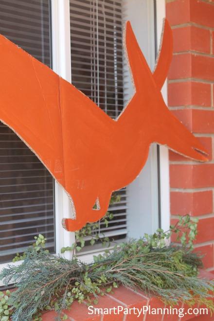 Dinosaur cardboard cut out