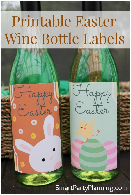Printable Easter Wine Label