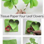 Tissue Paper Four Leaf Clovers