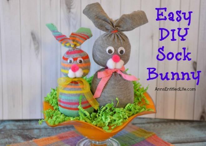 Easy DIY Sock Bunny