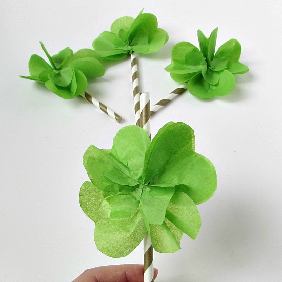 How To Easily Make Tissue Paper Four Leaf Clovers