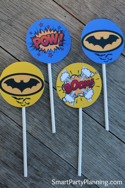 Batman cupcake toppers