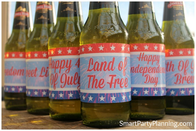 4th of July beer labels