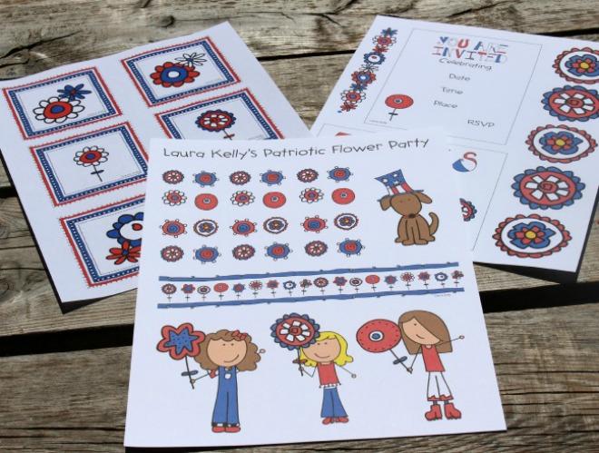 Set of printable patriotic decorations