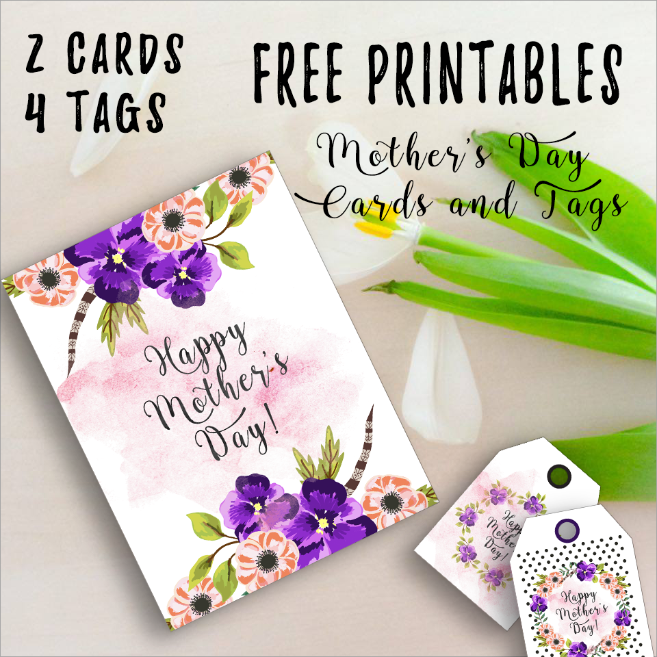 This is a graphic of Universal Print Out Mother Day Cards