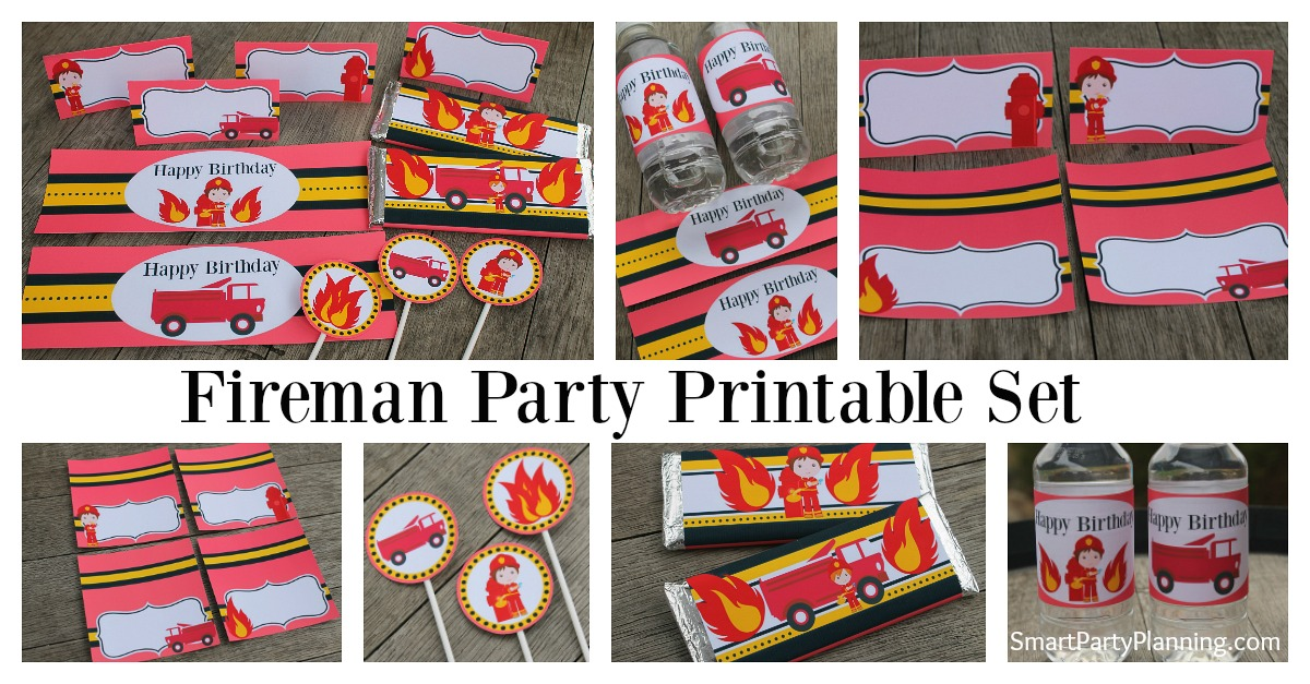 The Best Fireman Birthday Party Printables