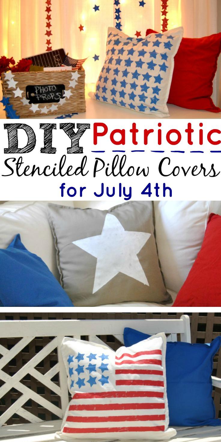 DIY Patriotic Pillows
