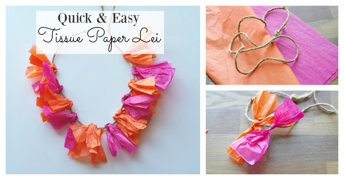 Quick easy way to make a tissue paper lei