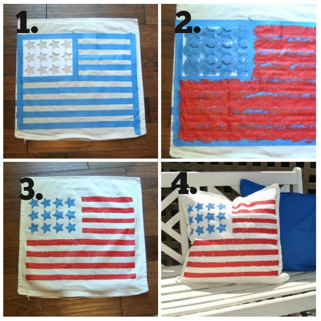 Easy Flag Patriotic Pillow
