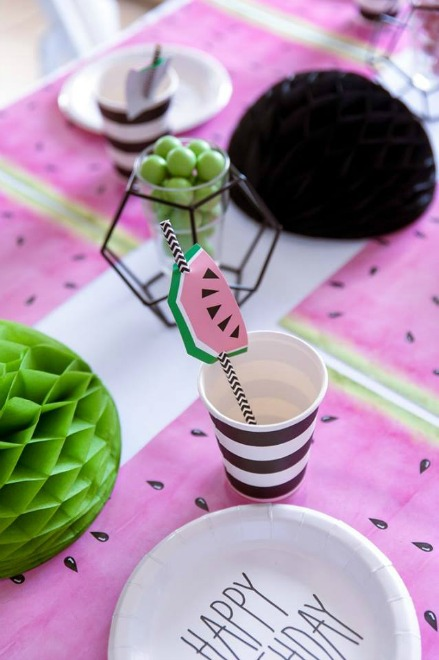 watermelon cup and straw