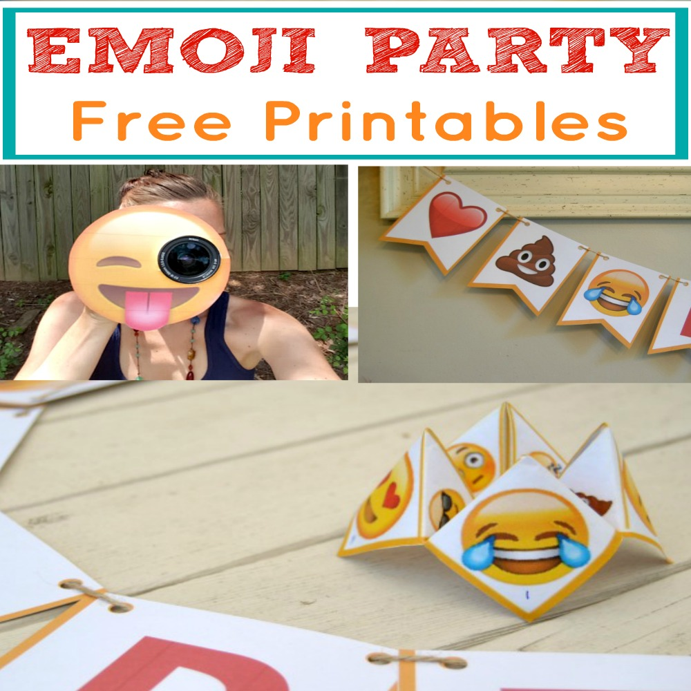 Easy popular emoji party package with free printables for Emoji printables free