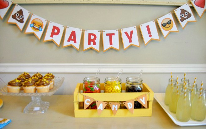 Emoji party package banner