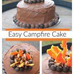 Easy campfire cake