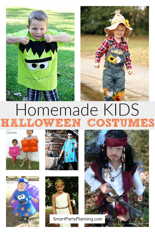 Homemade Kids Halloween Costumes