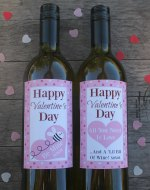 Wine Labels For Valentines Day