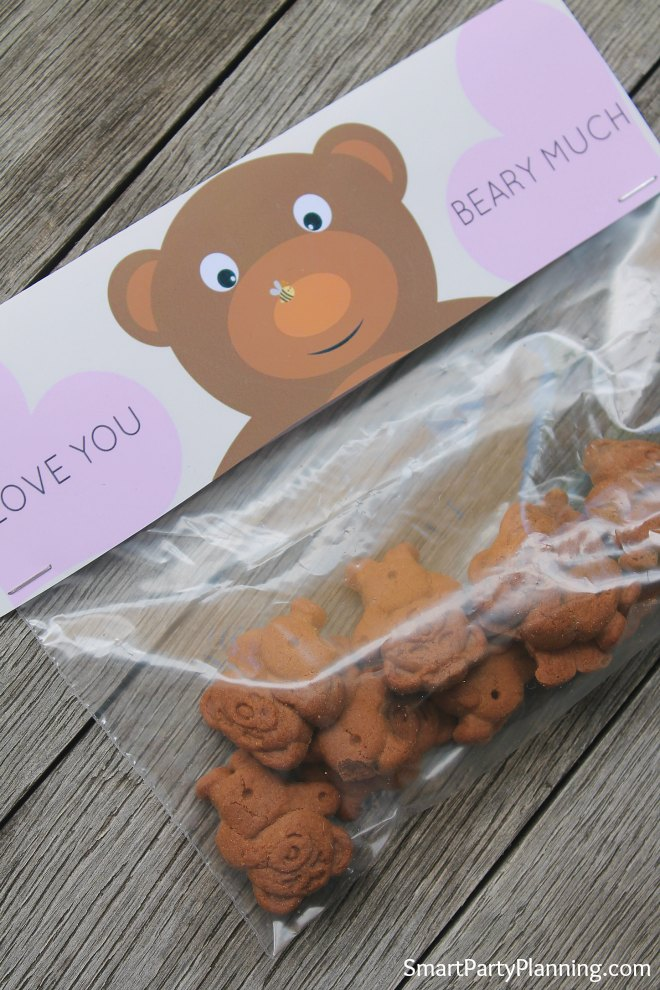 I love you Beary much bag topper