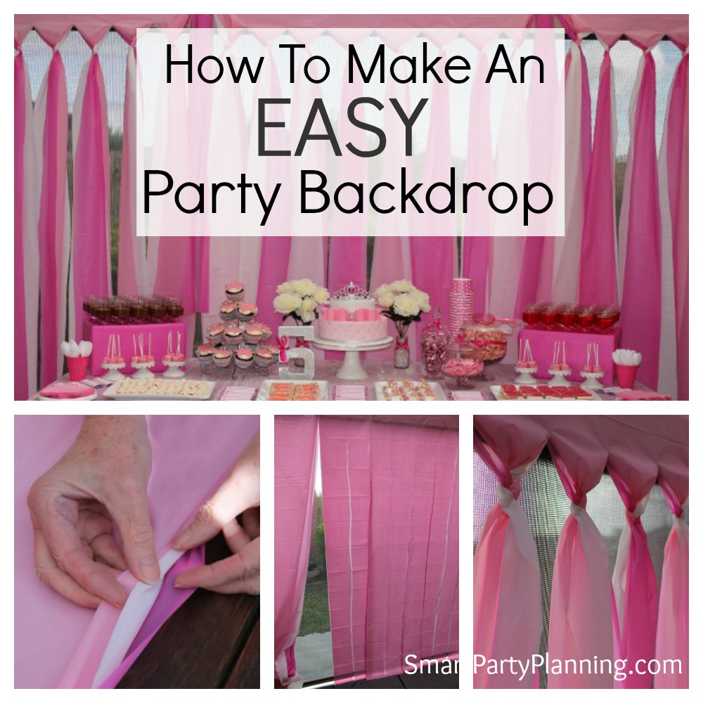 How to make an easy diy party backdrop for Background decoration for birthday party