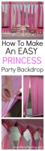 How To Make An Easy Princess Party Backdrop