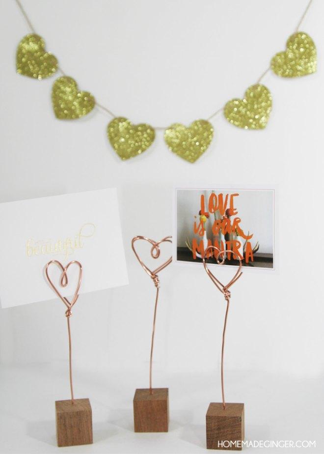 Valentines day photo holders