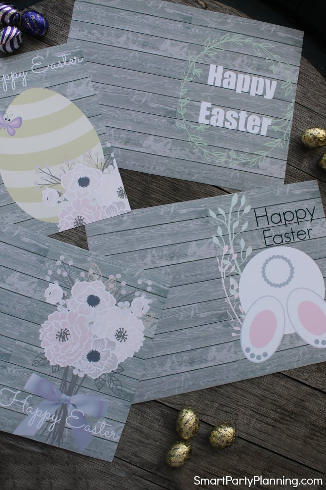 Set of 4 cute Easter Cards